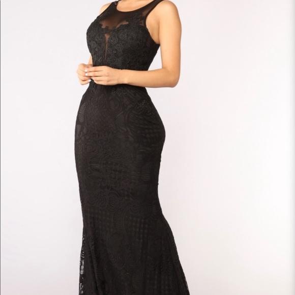 Fashion Nova Dresses Floor Length Black Dress Poshmark